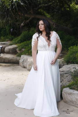 Plus size boho wedding dress Petra-(1)
