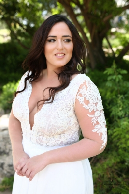 Plus size boho wedding dress Petra-(2)
