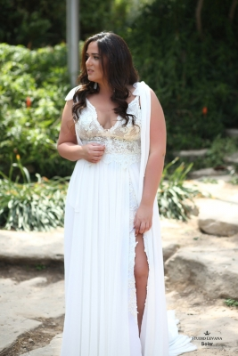 Plus size boho wedding dress Solar-(1)