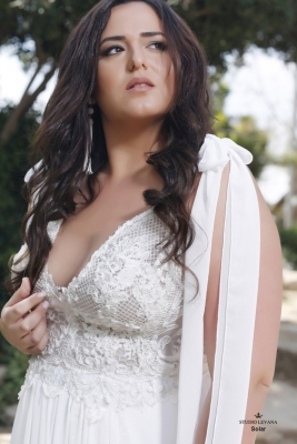 Plus size boho wedding dress Solar-(3)