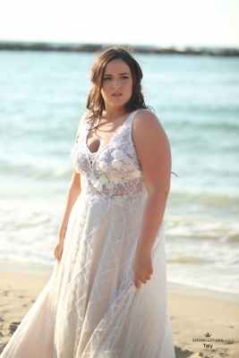 Plus size boho wedding dress Taly-(1)