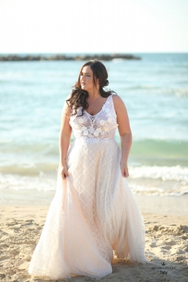 Plus size boho wedding dress Taly-(3)