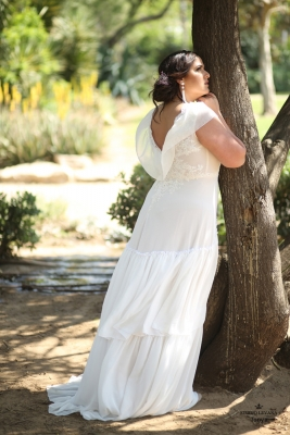Plus size boho wedding dress Tonya-(3)