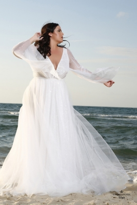 Plus size boho wedding dress Trish-(1)