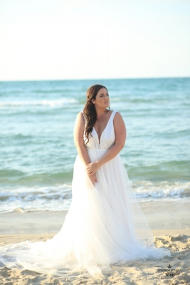 Plus size boho wedding dress Trish-(3)