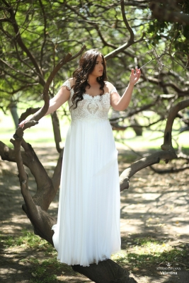 Plus size boho wedding dress Valentina-(2)