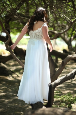 Plus size boho wedding dress Valentina-(3)
