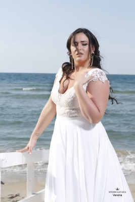 Plus size boho wedding dress Verona-(1)