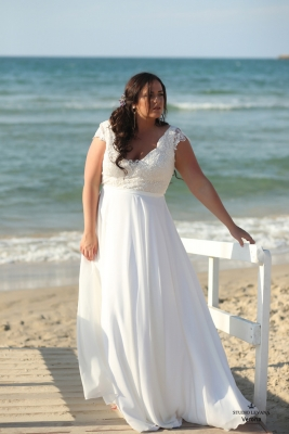 Plus size boho wedding dress Verona-(2)