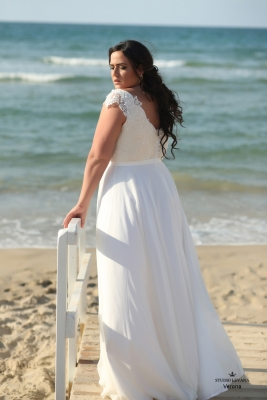 Plus size boho wedding dress Verona-(3)