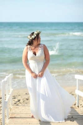 Plus size boho wedding dress sage-(1)