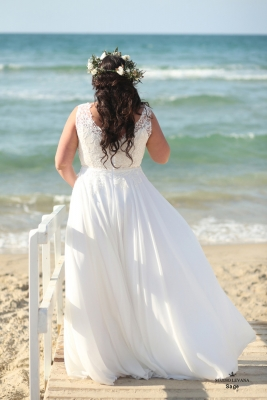 Plus size boho wedding dress sage-(3)