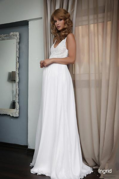 Pregnant wedding gowns 2015 ingrid (1)