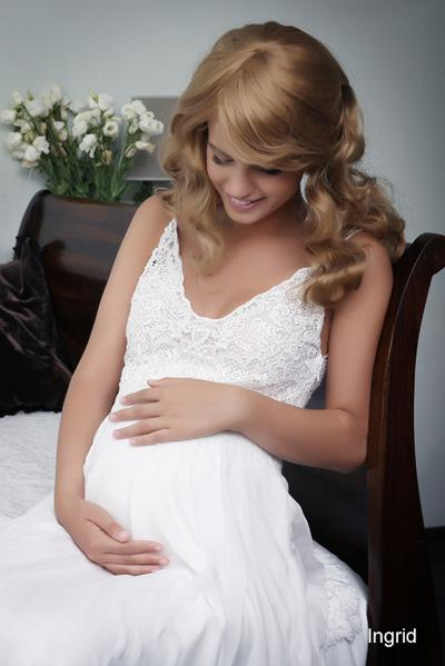 Pregnant wedding gowns 2015 ingrid (2)