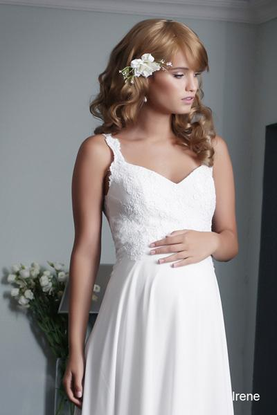 Pregnant wedding gowns 2015 irene (1)