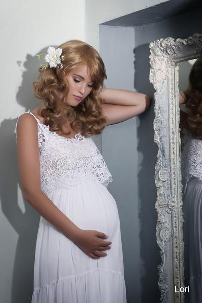 Pregnant wedding gowns 2015 lori (1)