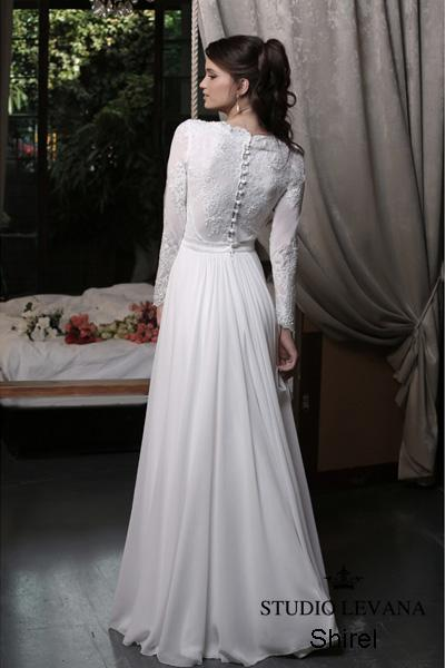Modest wedding gown Pastel collection  (14)