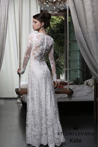 Modest wedding gown Pastel collection  (17)