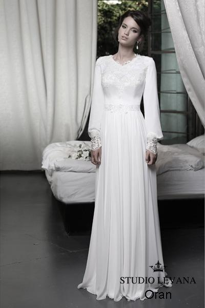 Modest wedding gown Pastel collection  (19)