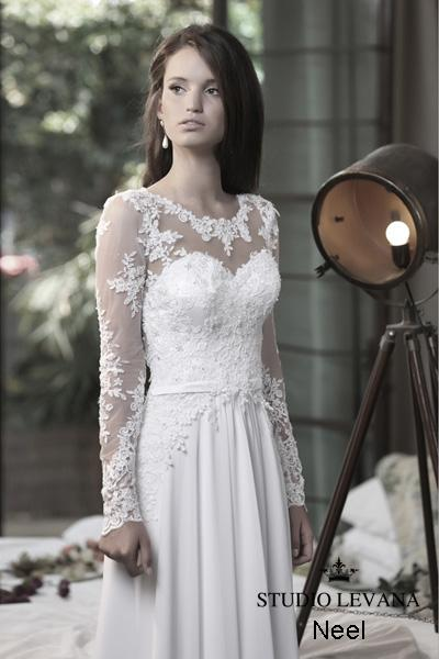 Modest wedding gown Pastel collection  (9)