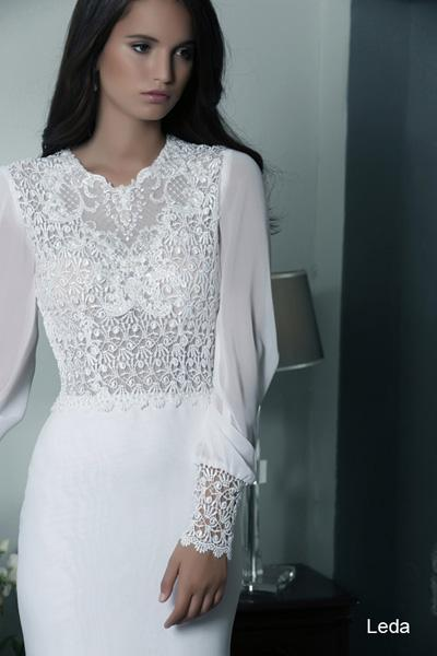 Modest wedding gowns 2015 leda (1)