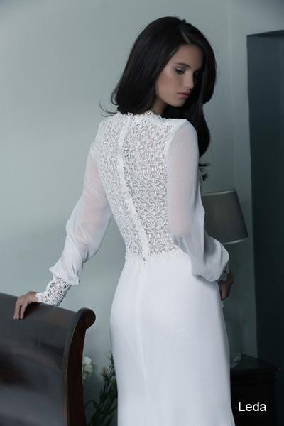 Modest wedding gowns 2015 leda (2)