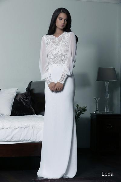 Modest wedding gowns 2015 leda (3)