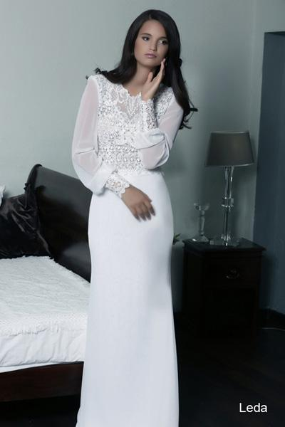 Modest wedding gowns 2015 leda (4)