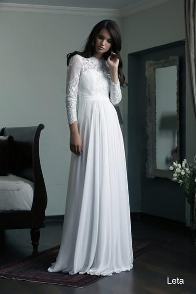 Modest wedding gowns 2015 leta (3)
