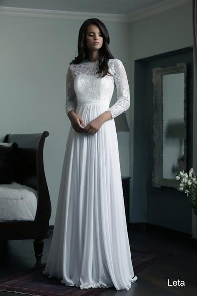 Modest wedding gowns 2015 leta (4)