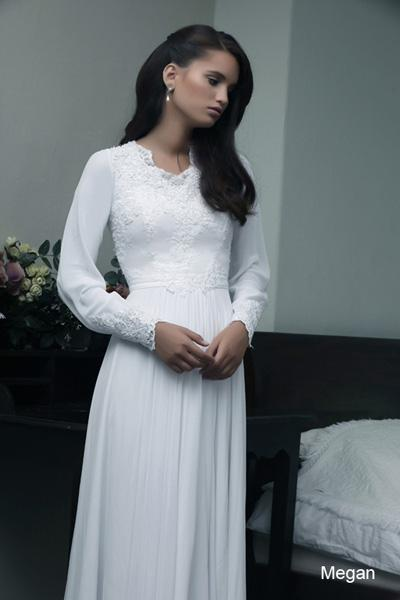 Modest wedding gowns 2015 magan (1)