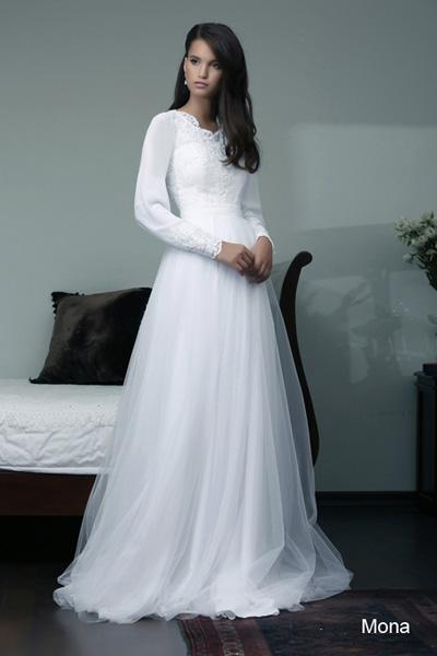 Modest wedding gowns 2015 mona
