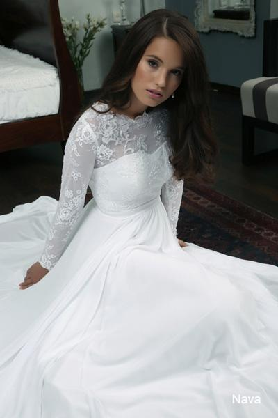 Modest wedding gowns 2015 nava (2)