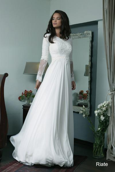 Modest wedding gowns 2015 riate (2)