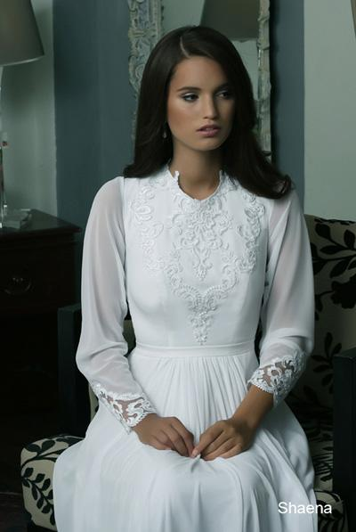 Modest wedding gowns 2015 shaena (3)