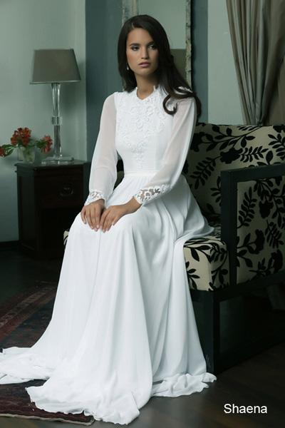 Modest wedding gowns 2015 shaena (4)