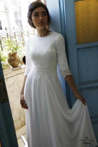 Modest wedding gowns 2016 carmit (5)