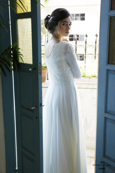 Modest wedding gowns 2016 leah (1)