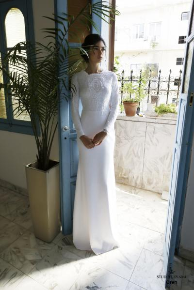 Modest wedding gowns 2016 oren (2)