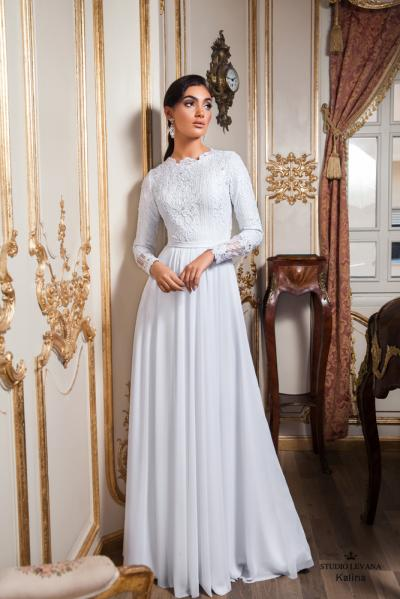 Modest wedding gowns 2017 kalina (2)