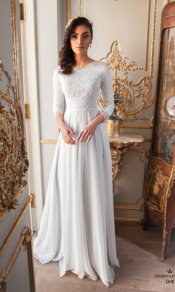 Modest wedding gowns 2017 orit (2)