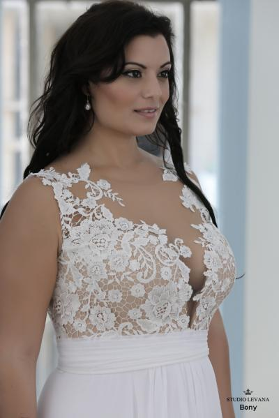 Plus size wedding gown-Blue  (1)Bony (4)