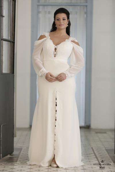 Plus size wedding gown-Blue  (1)Mali (2)