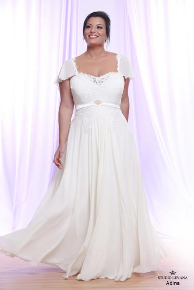 Plus size wedding gown White collection Adina (1)