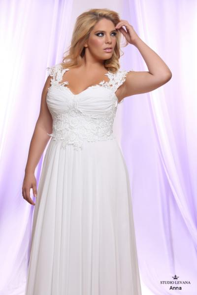 Plus size wedding gown White collection Anna (2)