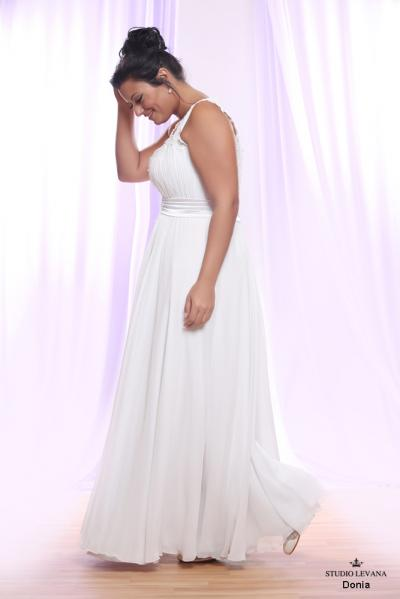 Plus size wedding gown White collection Donia (2)