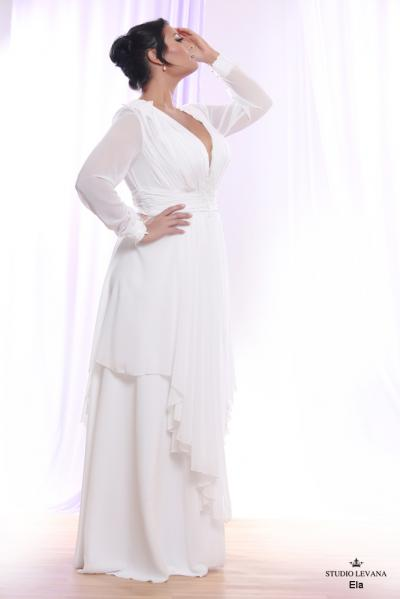 Plus size wedding gown White collection Ela (3)