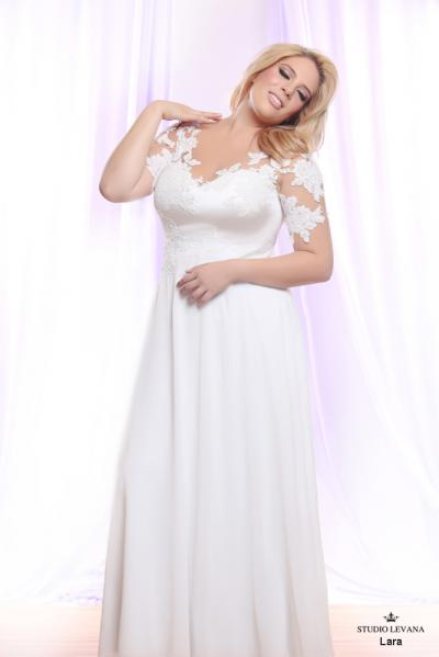 Plus size wedding gown White collection Lara (2)