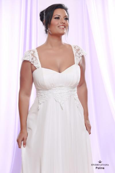 Plus size wedding gown White collection Polina (1)
