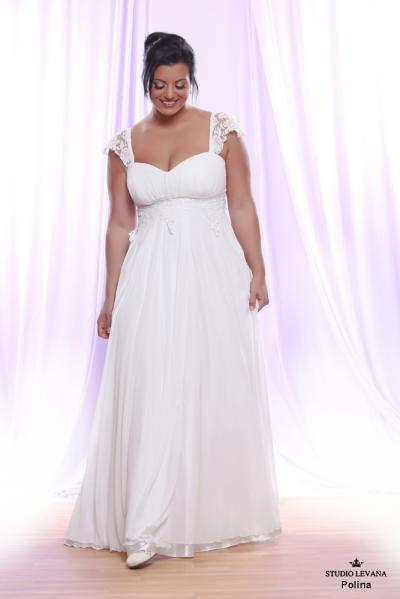 Plus size wedding gown White collection Polina (2)